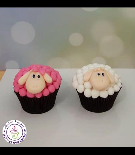 Eid Al Adha Themed Cupcakes - Sheep - 3D Toppers - Fondant 03