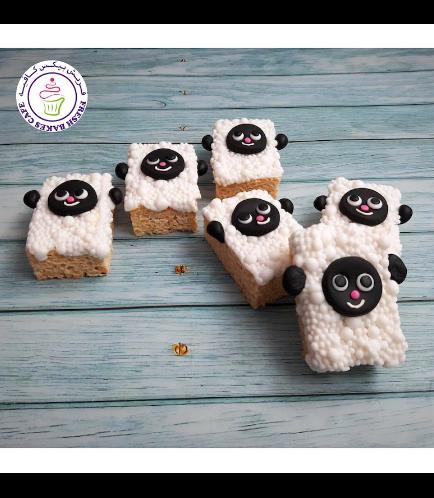 Eid Al Adha Themed Krispie Treats - Sheep 01