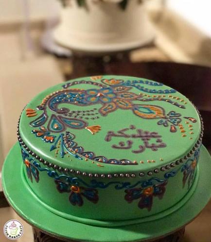 Eid Themed Cake - Cream Design 02