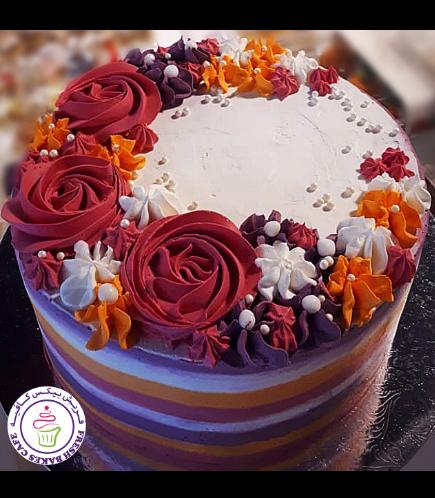 Eid Themed Cake - Buttercream Flowers 02