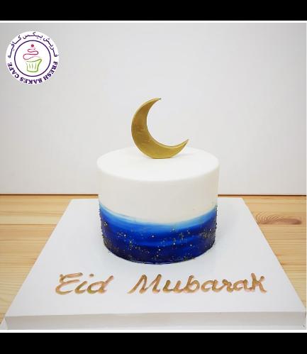 Eid Themed Cake - Crescent 03