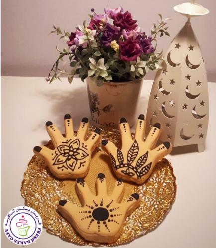 Henna Hand Themed Cookies 02