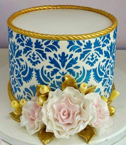 Cake - Roses & Stencils