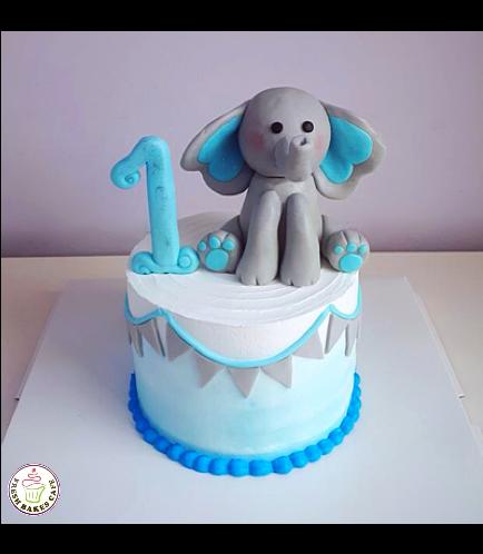 Cake - Elephant - 3D Cake Topper 02