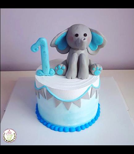 Elephant Themed Cake - 3D Cake Topper 05