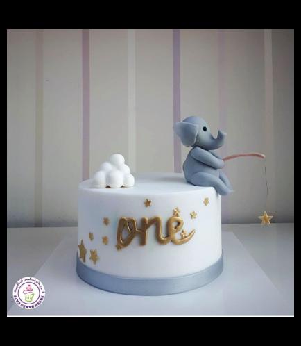 Cake - Elephant - 3D Cake Topper 03a