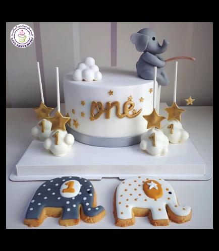 Cake - Elephant - 3D Cake Topper 03b