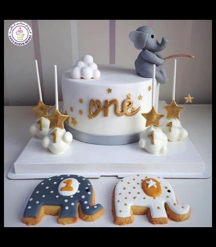 Elephant Themed Cake - 3D Cake Topper 06b