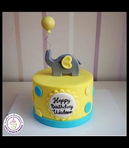 Elephant Themed Cake 1a