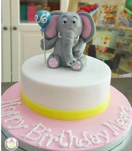 Elephant Themed Cake - 3D Cake Topper 02
