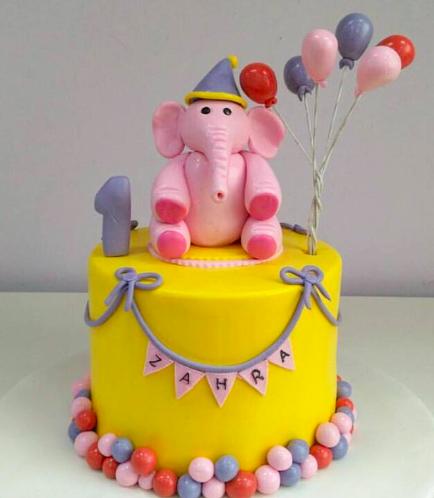 Cake - Elephant - 3D Cake Topper 01a