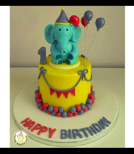 Elephant Themed Cake 2b