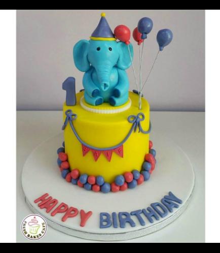 Cake - Elephant - 3D Cake Topper 01b