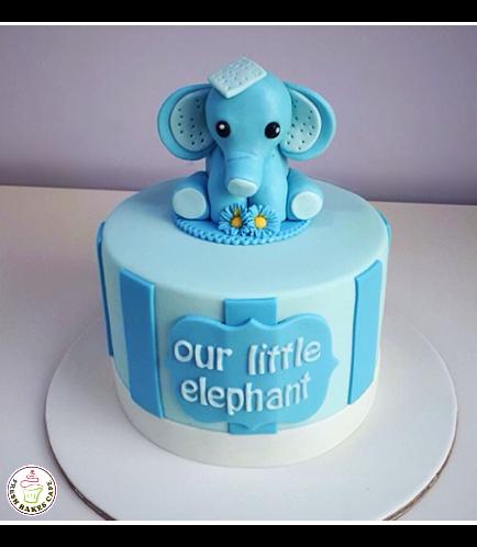 Cake - Baby Shower - Elephant - 3D Cake Topper - 1 Tier 03