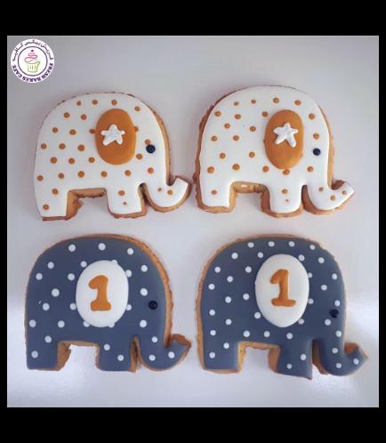 Elephant Themed Cookies