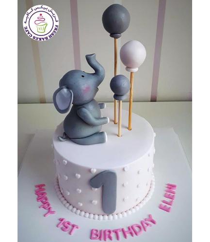 Cake - Elephant - 3D Cake Topper 05