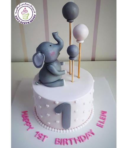 Elephant Themed Cake - 3D Cake Topper 09