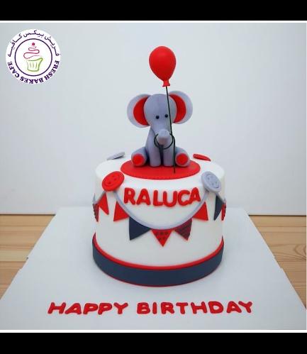 Elephant Themed Cake - 3D Elephant Cake Topper 10