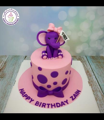Elephant Themed Cake - 3D Cake Topper 11