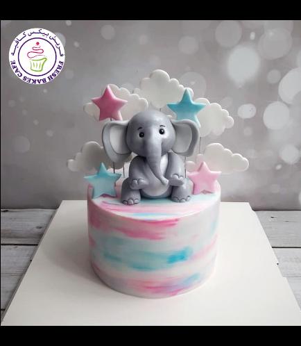 Elephant Themed Cake - 3D Cake Topper 12