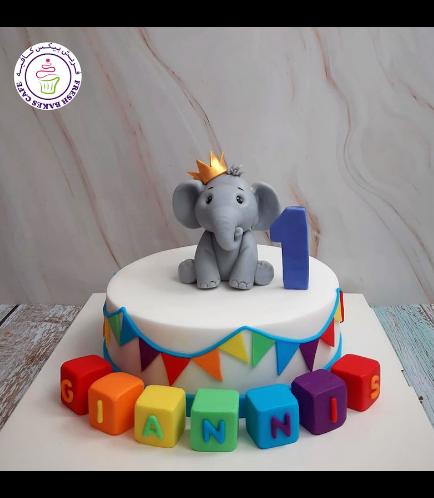 Elephant Themed Cake - 3D Cake Topper 13