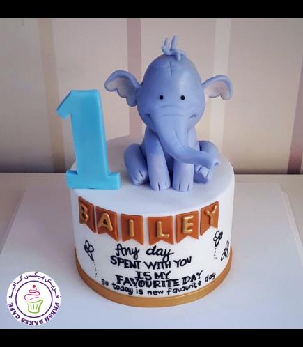 Cake - Elephant - 3D Cake Topper 04