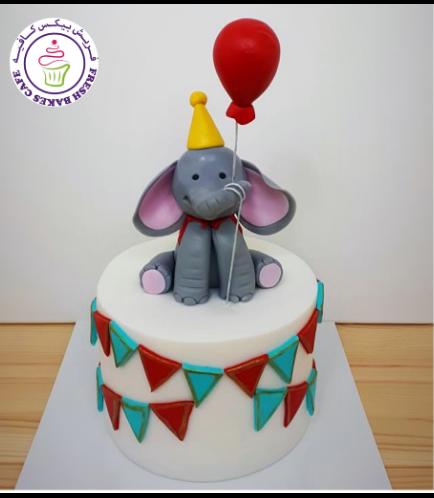 Elephant Themed Cake - 3D Cake Topper 08