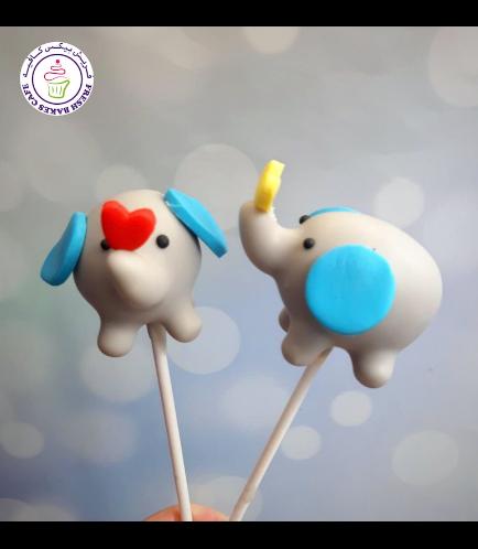 Elephant Themed Cake Pops