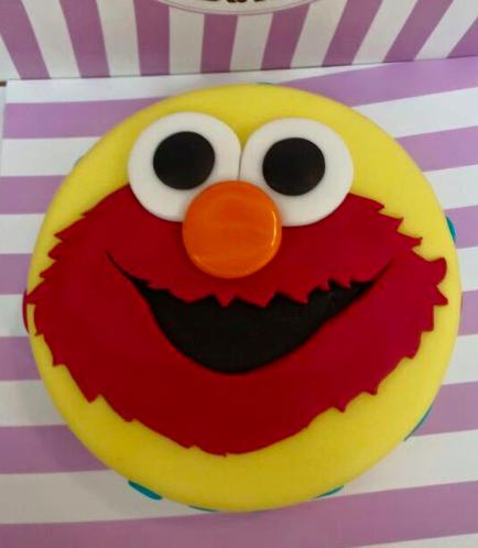 Cake - Elmo - Picture - 2D Fondant 01