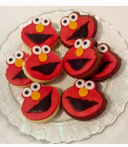 Elmo Themed Cookies