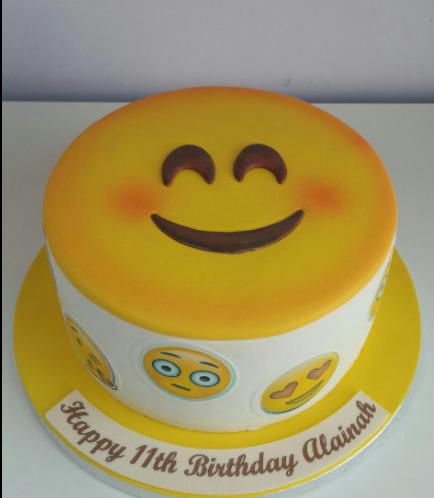 Emoji Themed Cake - 2D Cake 02