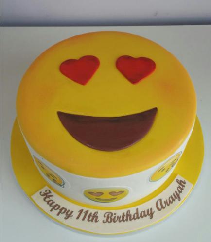 Emoji Themed Cake - 2D Cake 03
