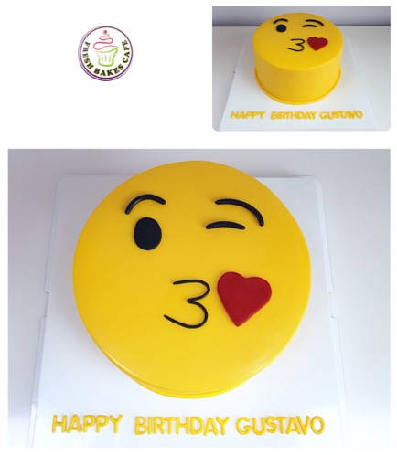 Emoji Themed Cake - 2D Cake 01