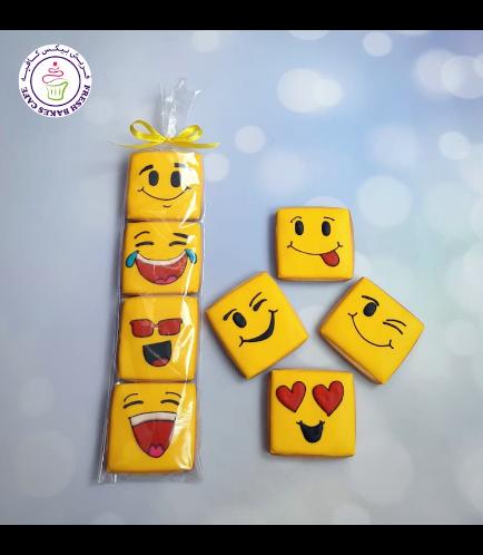 Emoji Themed Cookies - Minis - Squares