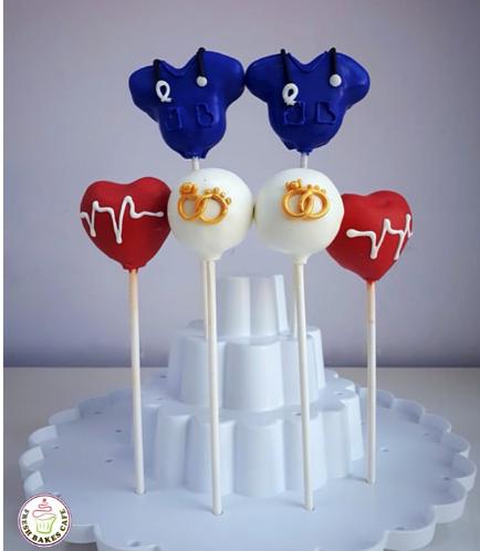 Engagement/Doctor Themed Cake Pops