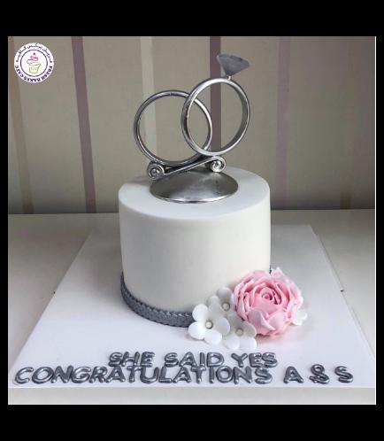 Engagement Themed Cake 16