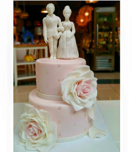 Bride & Groom Themed Cake - 3D Bride & Groom Cake Toppers 02