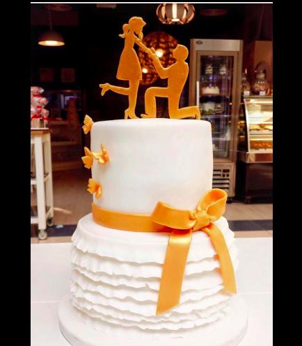 Engagement Themed Cake 04