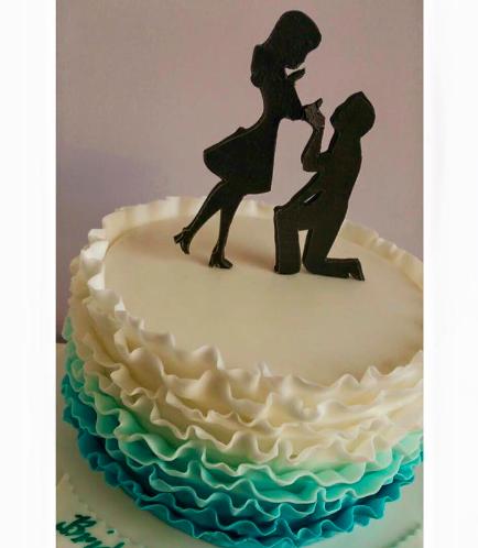 Engagement Themed Cake 06