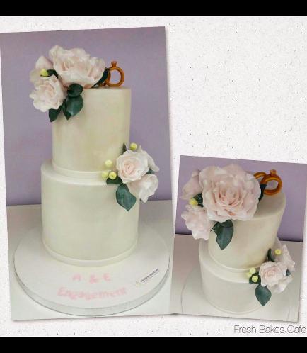 Engagement Themed Cake 07
