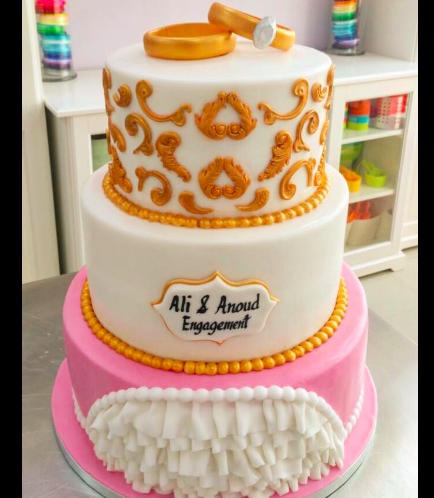 Engagement Themed Cake 09