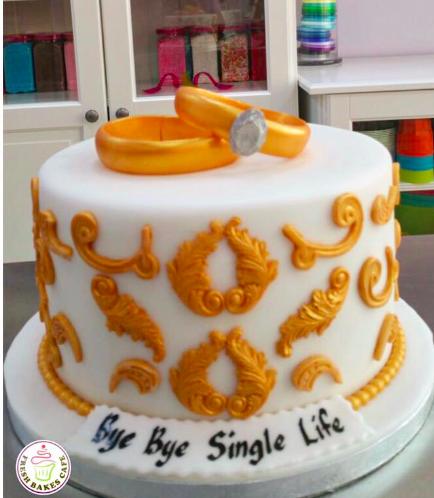 Engagement Themed Cake 10