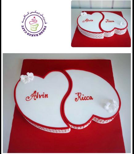 Engagement Themed Cake 11b