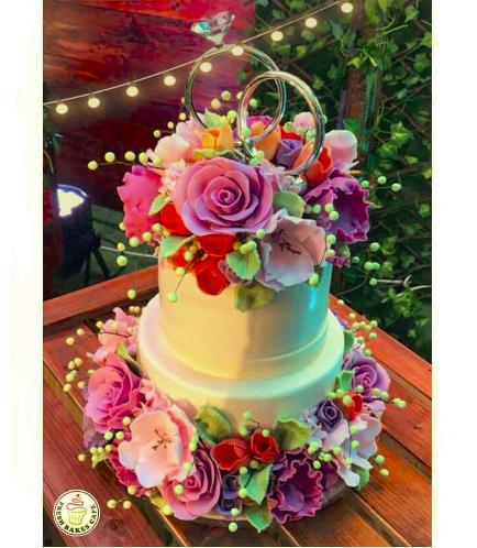 Engagement Themed Cake 14b