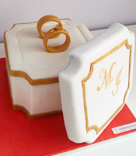 Engagement Themed Cake 13