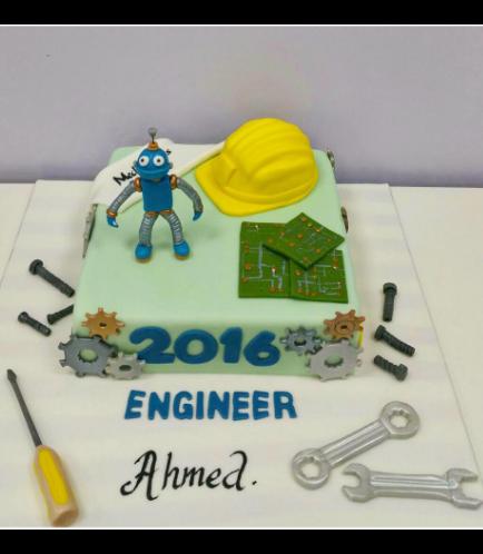 Engineer Themed Cake 1
