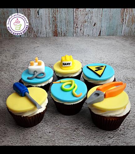 Engineer Themed Cupcakes - Electrical Engineer