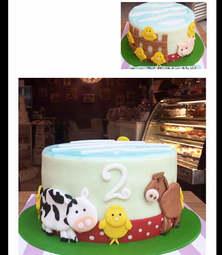Farm Animals Themed Cake 01