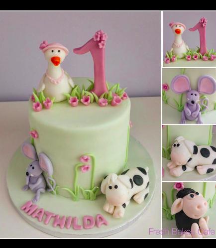 Farm Animals Themed Cake 02