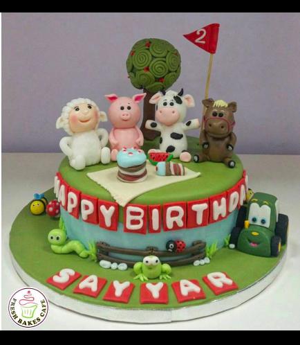 Farm Animals Themed Cake 03